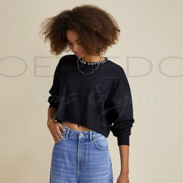 LesCoyotesdeParis sweat zwart boxy