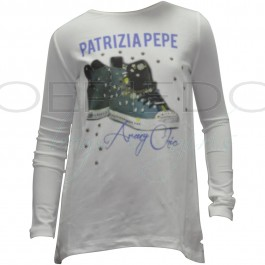 PatriziaPepe shirt roomwit Sneakers