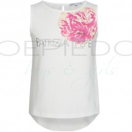 PatriziaPepe top wit flowers