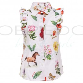 Monnalisa blouse wit country