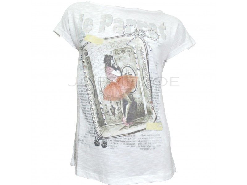 Parrot tshirt roomwit Frame