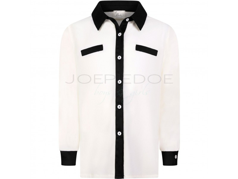 Illudia blouse roomwit