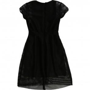 Karl jurk zwart mesh