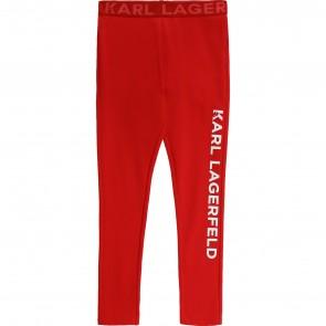 Karl legging rood logo