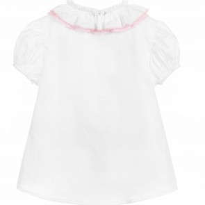 Monnalisa blouse wit roze
