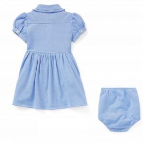RalphLauren jurk lichtblauw logo