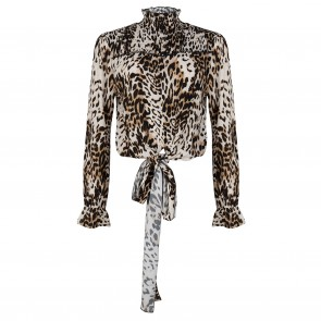 Jacky top beige leopard