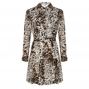 Jacky jurk beige leopard
