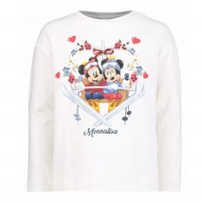 Monnalisa shirt wit Minny