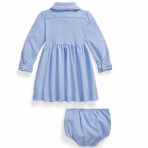 RalphLauren jurk blauw oxford