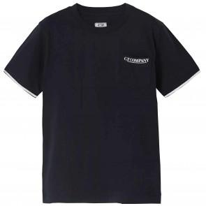 CPCompany tshirtKM donkerblauw borstzak