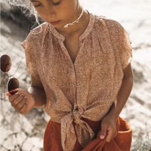 CircleofTrust blouse roestbruin roos