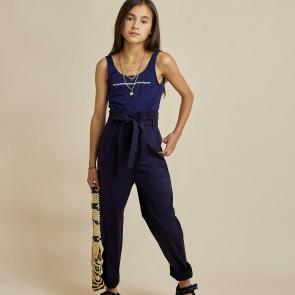 LesCoyotesdeParis broek blauw bandplooi