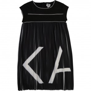 Karl jurk zwart plisee
