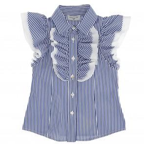 Monnalisa blouse blauw streep