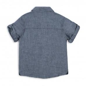Boss blouse blauw linnen