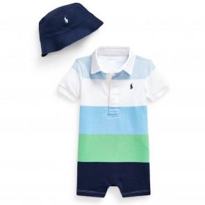 RalphLauren babypakje blauw groenSet