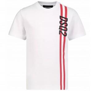 DSquared2 tshirtKM wit stripe