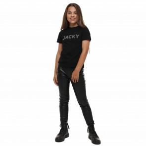 Jacky broek zwart ecoleder
