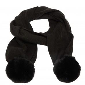 LiuJo sjaal zwart pompon