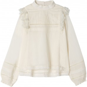 Zadig&Voltaire blouse roomwit ruche
