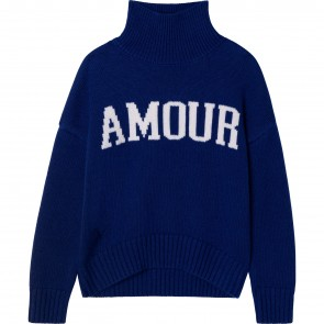 Zadig&Voltaire pull kobaltblauw Amour
