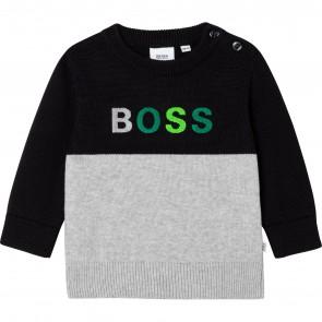 Boss pull grijs zwart