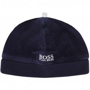 Boss muts donkerblauw logo