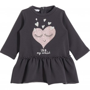 LiuJo jurk donkergrijs hart