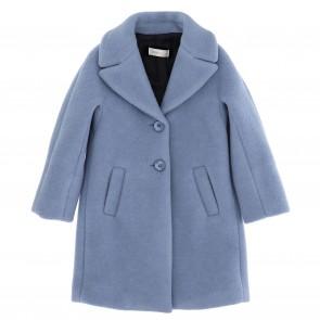 Monnalisa winterjas lichtblauw mantel