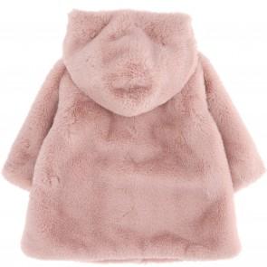 Monnalisa winterjas roze bont