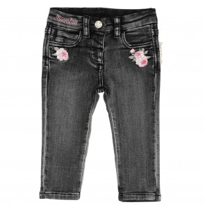 Monnalisa broek donkergrijs jeans