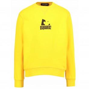 DSquared2 sweat geel logo