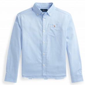 RalphLauren blouse lichtblauw borstz