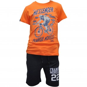 FrankieMorello tshirt oranje Messenger