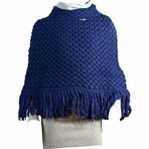 MissBlumarine poncho blauw