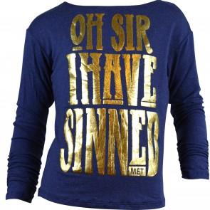 Met shirt blauw Sinned