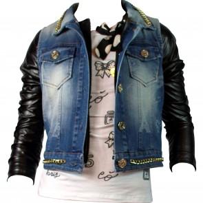 Paesaggino jack zwart/jeans Paris