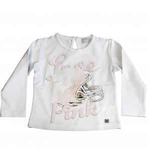 fun&fun shirt wit Pink