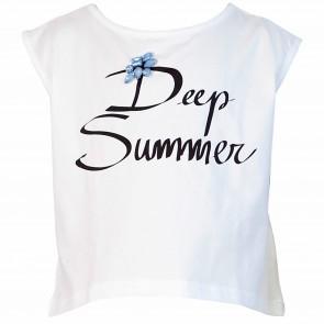 fun&fun tshirt wit Summerblue