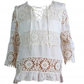 PatriziaPepe blouse roomwit lace