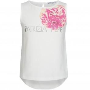 PatriziaPepe top wit flowers