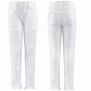 TwinSet broek wit destroyed