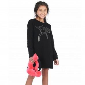 Fun&Fun jurk zwart Rockstar