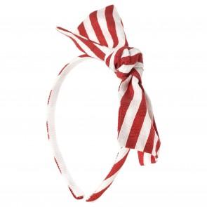 Monnalisa haarband wit/rood streep