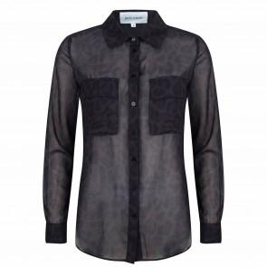 Jacky blouse zwart leopard