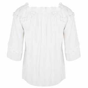Jacky top wit offshoulder