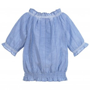 Lili blouse blauw glasto