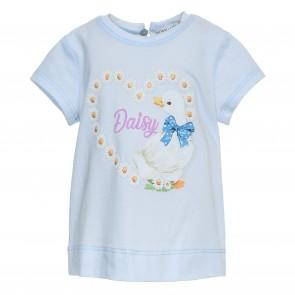 Monnalisa tshirt lichtblauw Daisy