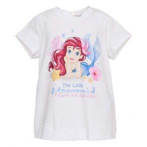 Monnalisa tshirt wit mermaid
